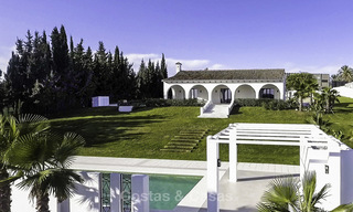 Completely renovated rustic villa for sale on the New Golden Mile between Marbella and Estepona 19094
