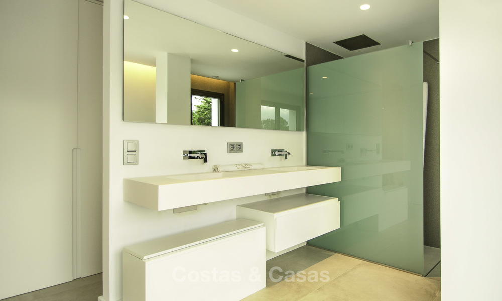 Brand new contemporary villa for sale, furnished and move-in ready, Golf valley, Nueva Andalucia, Marbella 19263