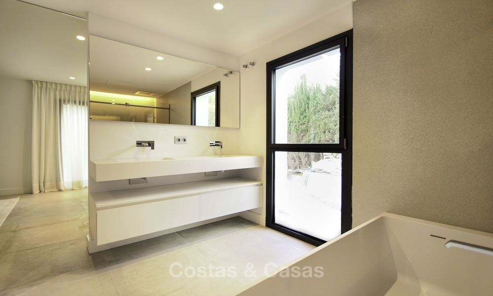Brand new contemporary villa for sale, furnished and move-in ready, Golf valley, Nueva Andalucia, Marbella 19269