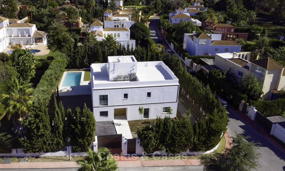 Brand new contemporary villa for sale, furnished and move-in ready, Golf valley, Nueva Andalucia, Marbella 19270