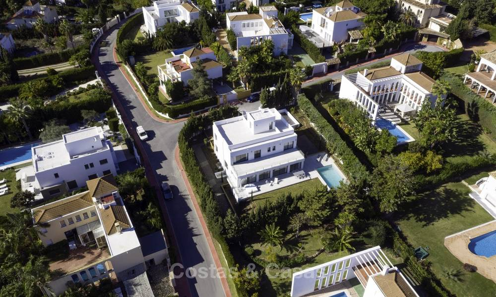 Brand new contemporary villa for sale, furnished and move-in ready, Golf valley, Nueva Andalucia, Marbella 19271