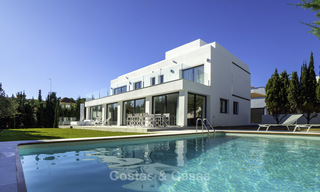 Brand new contemporary villa for sale, furnished and move-in ready, Golf valley, Nueva Andalucia, Marbella 19272