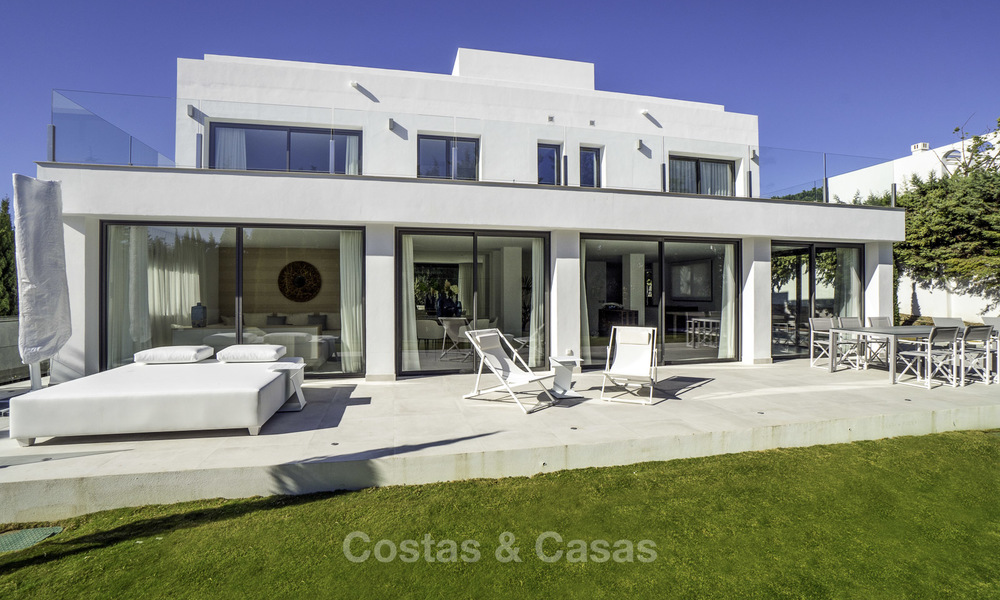 Brand new contemporary villa for sale, furnished and move-in ready, Golf valley, Nueva Andalucia, Marbella 19273