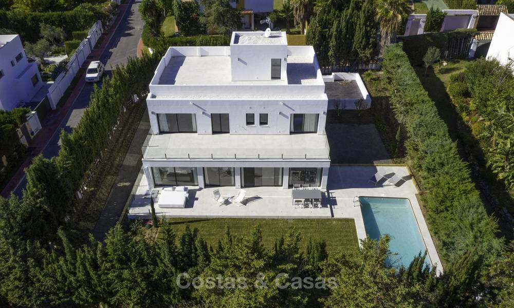 Brand new contemporary villa for sale, furnished and move-in ready, Golf valley, Nueva Andalucia, Marbella 19275