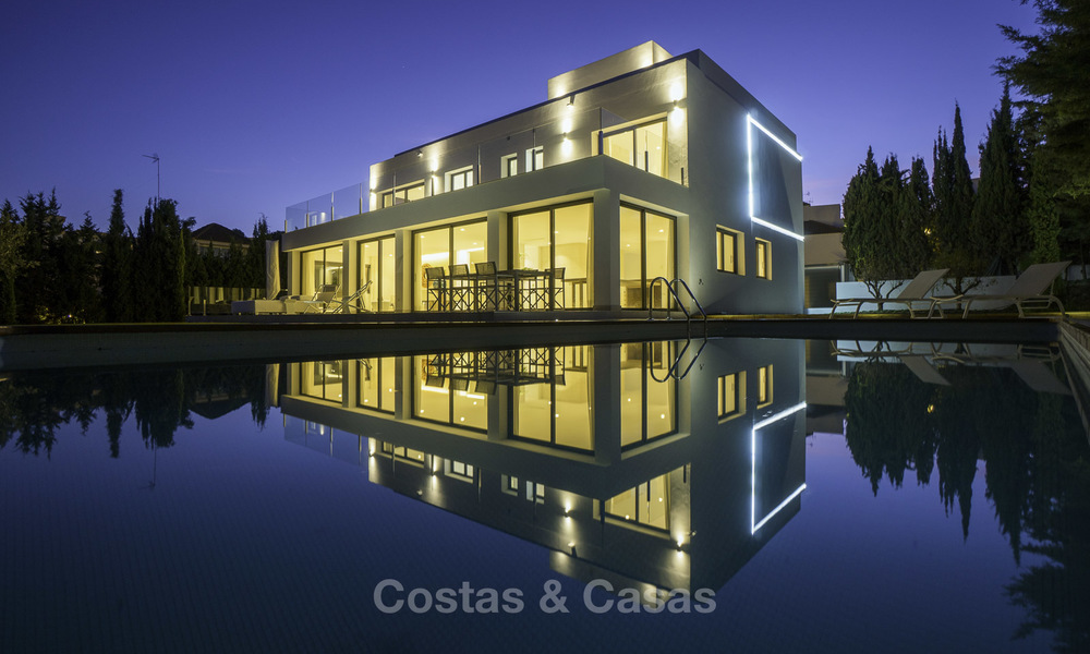 Brand new contemporary villa for sale, furnished and move-in ready, Golf valley, Nueva Andalucia, Marbella 19283