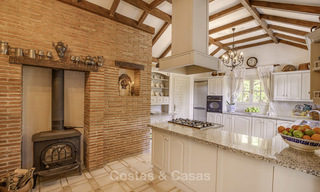 Charming Italian rustic villa on a double plot for sale, completely renovated, Marbella - Estepona 19306