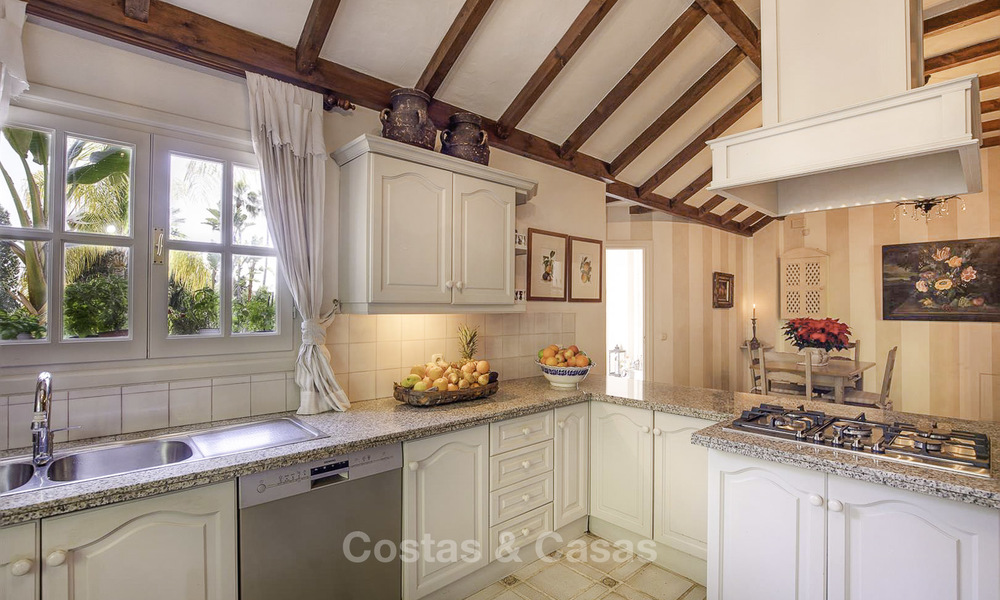 Charming Italian rustic villa on a double plot for sale, completely renovated, Marbella - Estepona 19308