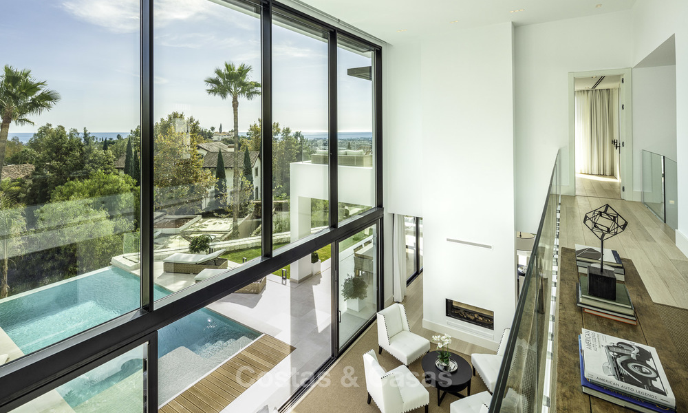 Brand new, move-in-ready contemporary luxury villa with stunning sea views for sale in a sought-after golf club, Benahavis - Marbella 19556