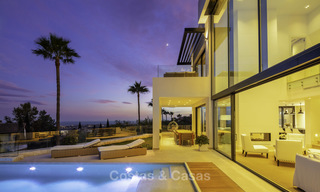 Brand new, move-in-ready contemporary luxury villa with stunning sea views for sale in a sought-after golf club, Benahavis - Marbella 19569