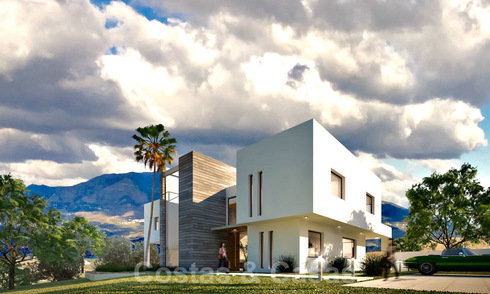 New contemporary luxury villa with sea views for sale in a smart country estate - East Marbella 19878