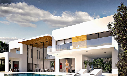 New contemporary luxury villa with sea views for sale in a smart country estate - East Marbella 19880