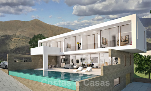 New built contemporary luxury villa with panoramic sea views for sale, East Marbella 19890
