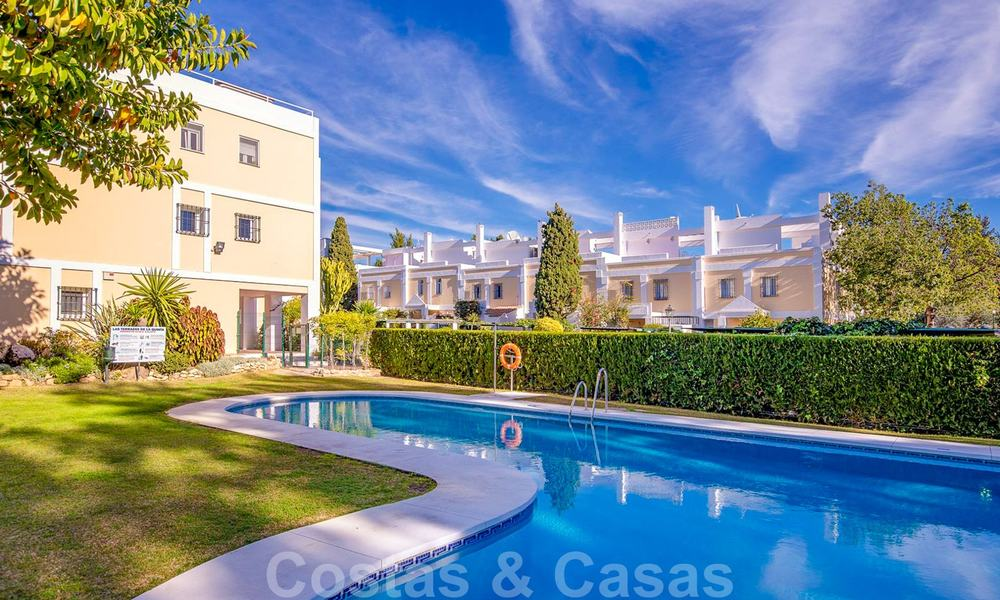 Attractive semi detached townhouse for sale, frontline on a prestigious golf course, Benahavis - Marbella 19910