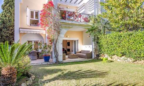 Attractive semi detached townhouse for sale, frontline on a prestigious golf course, Benahavis - Marbella 19916