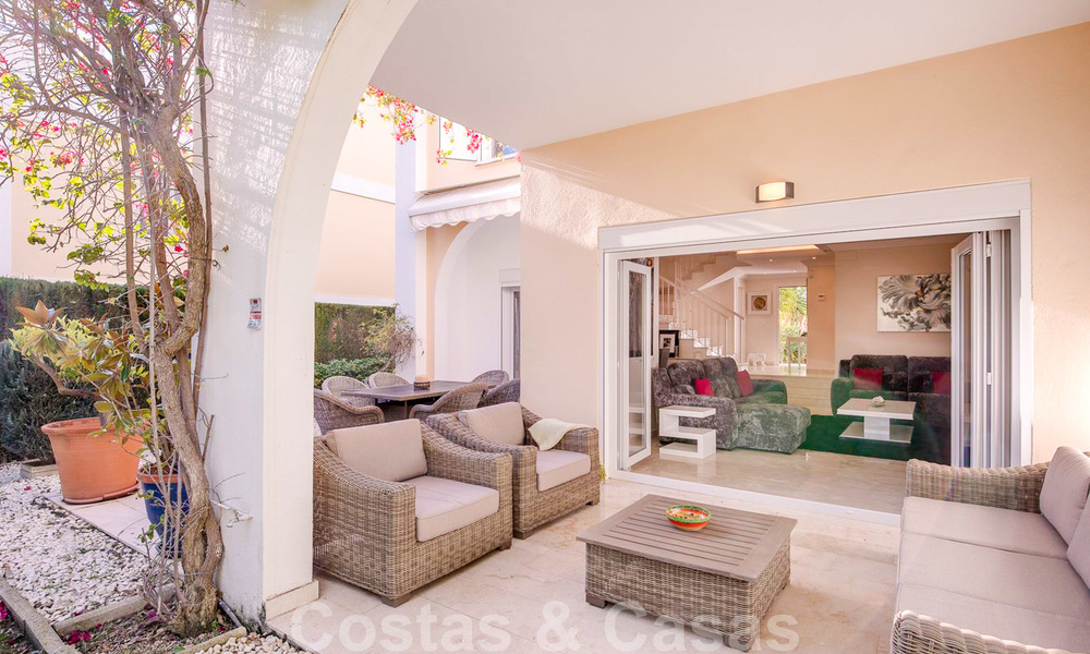 Attractive semi detached townhouse for sale, frontline on a prestigious golf course, Benahavis - Marbella 19917