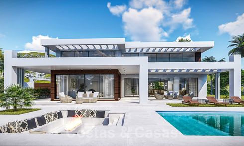 Off plan, to be renovated luxury villa in contemporary architecture for sale, in a sought after urbanisation in East Marbella 19952