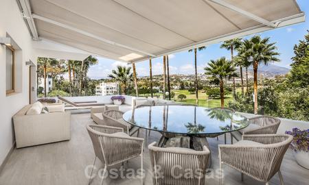 Huge price reduction! Impressive new frontline golf luxury apartment for sale, move-in ready, Nueva Andalucia, Marbella 20038
