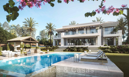 Off plan contemporary luxury villa with panoramic sea views for sale in a gated exclusive golf resort, Benahavis - Marbella 20368