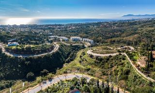 Fantastic building plots with approved licence and panoramic sea views for sale in Elviria, East Marbella 20418