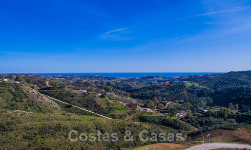 Attractive south facing building plot with spectacular views for sale, in a world class golf resort, Mijas, Costa del Sol 24097