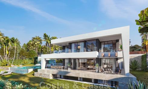 Brand new modern contemporary luxury villa with sea views for sale, walking distance to the beach, Estepona 20678