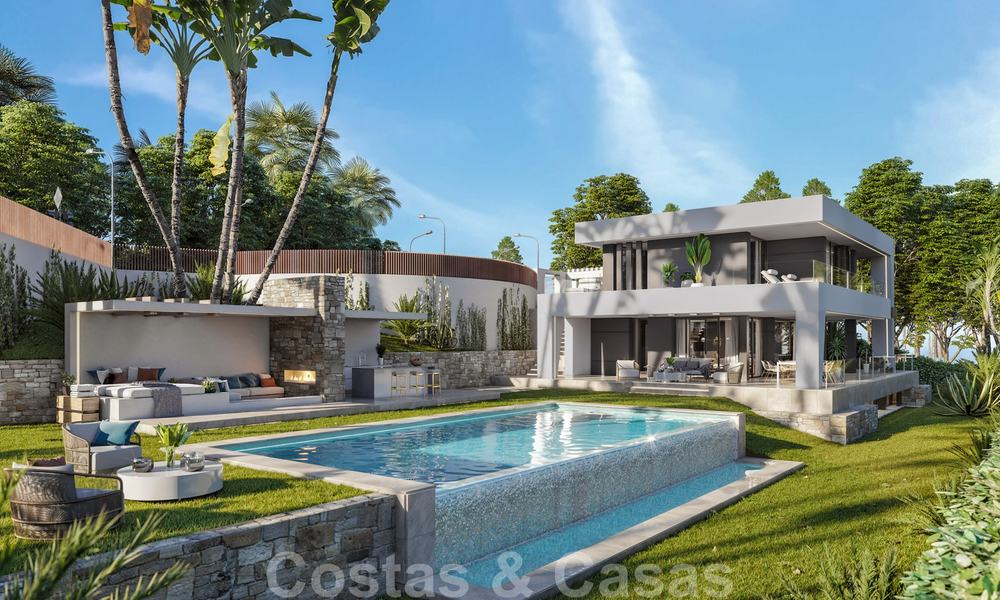 Brand new modern contemporary luxury villa with sea views for sale, walking distance to the beach, Estepona 20679