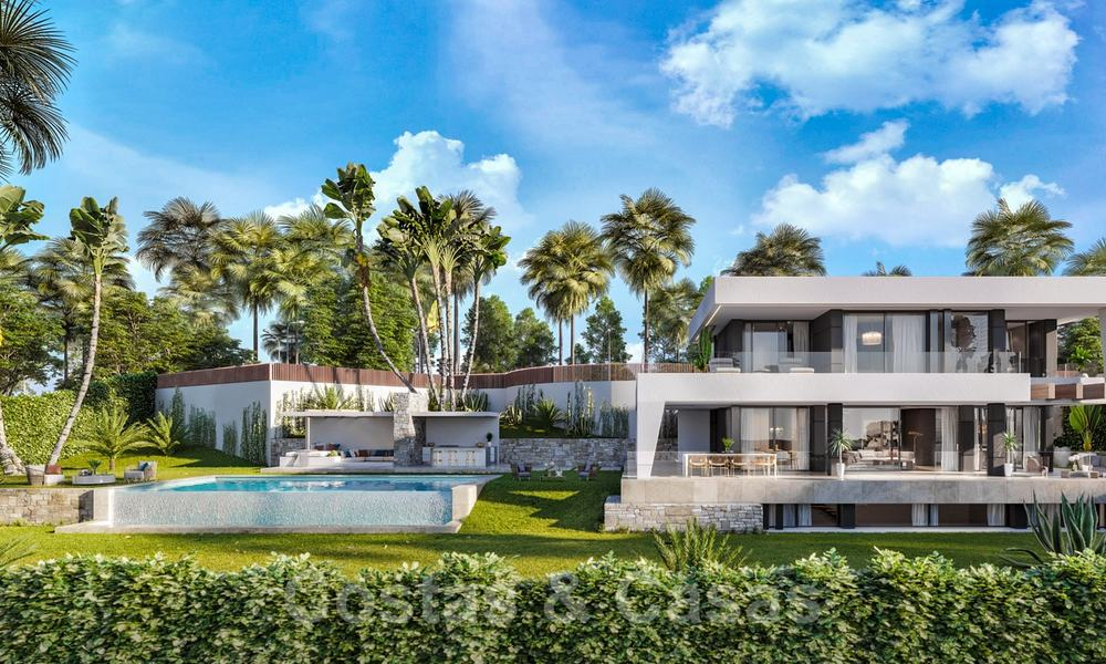 Brand new modern contemporary luxury villa with sea views for sale, walking distance to the beach, Estepona 20680