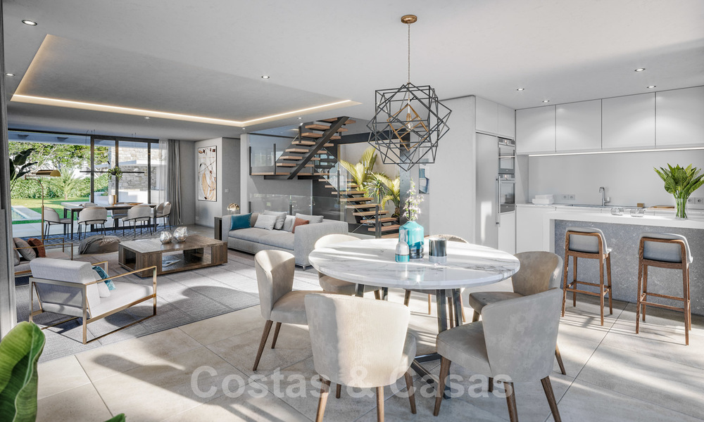 Brand new modern contemporary luxury villa with sea views for sale, walking distance to the beach, Estepona 20681