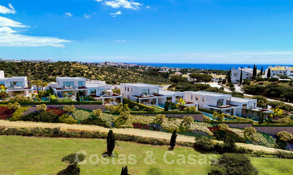 Brand new modern semi-detached villas with stunning sea views for sale, East Marbella 20557