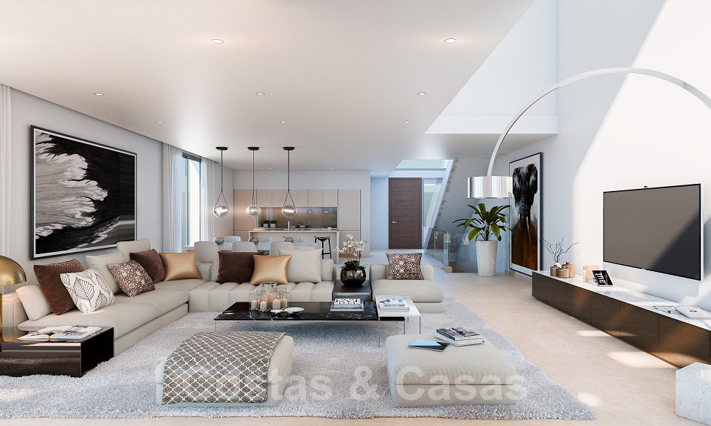 Brand new modern semi-detached villas with stunning sea views for sale, East Marbella 20559