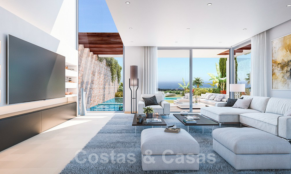 Brand new modern semi-detached villas with stunning sea views for sale, East Marbella 20561
