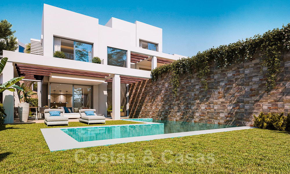 Brand new modern semi-detached villas with stunning sea views for sale, East Marbella 20563