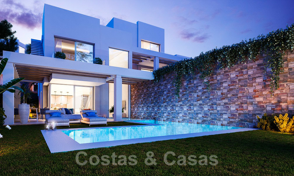 Brand new modern semi-detached villas with stunning sea views for sale, East Marbella 20564