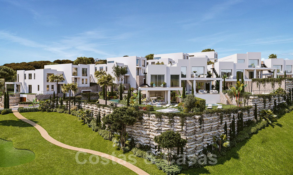 Brand new modern semi-detached villas with stunning sea views for sale, East Marbella 20565
