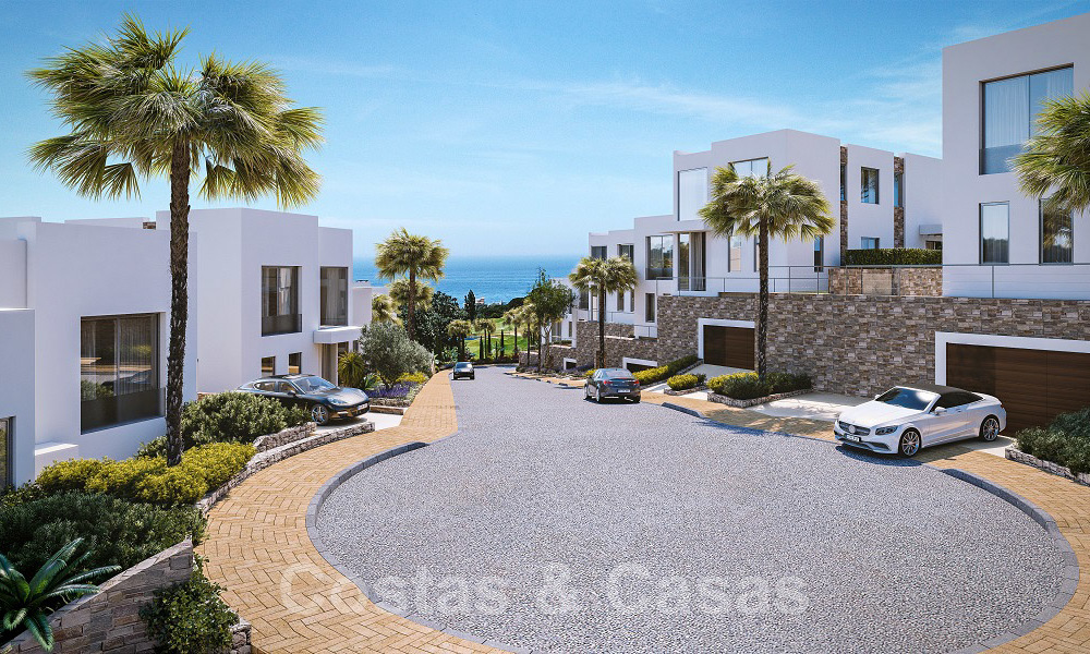 Brand new modern semi-detached villas with stunning sea views for sale, East Marbella 20566