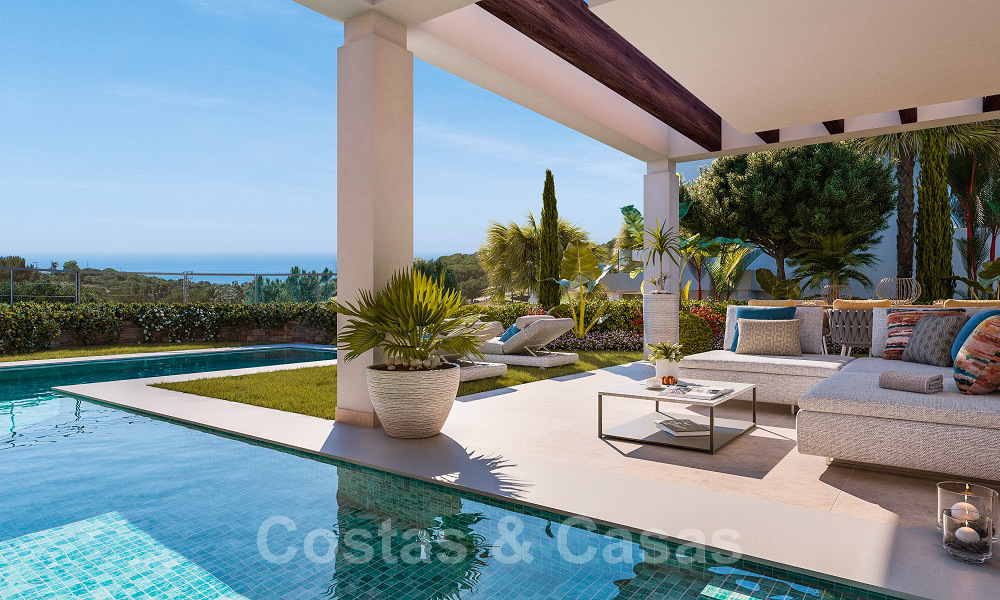 Brand new modern semi-detached villas with stunning sea views for sale, East Marbella 20567