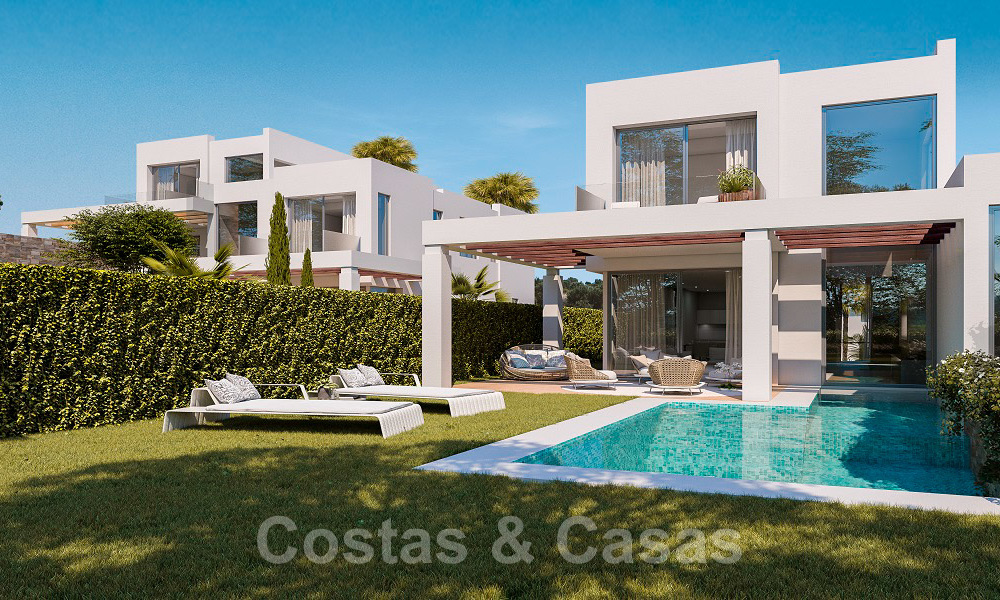 Brand new modern semi-detached villas with stunning sea views for sale, East Marbella 20568
