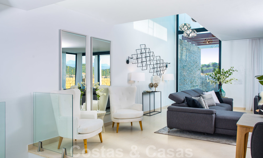Brand new modern semi-detached villas with stunning sea views for sale, East Marbella 20577