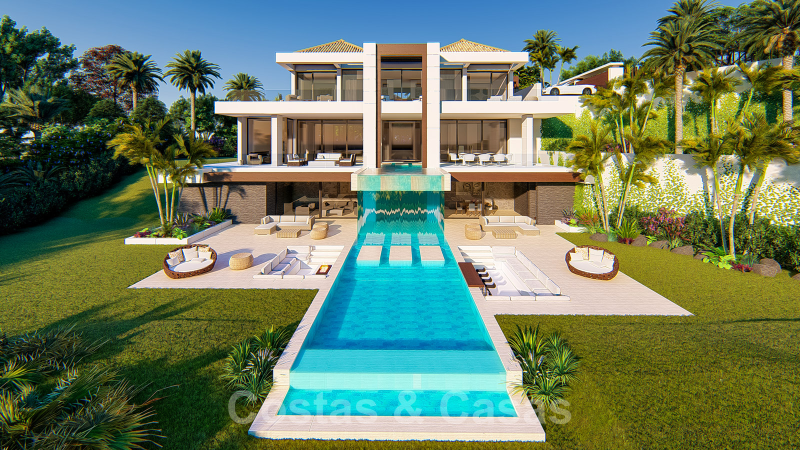 Spectacular modern villa with sea and golf views for sale ...