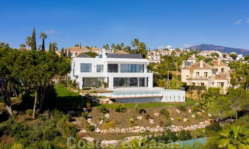 Super luxurious contemporary villa with sea and mountain views for sale in the Golden Triangle of Benahavis, Estepona, Marbella 20753