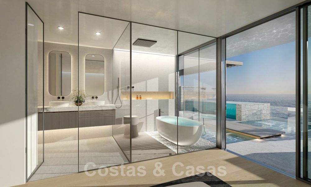 New ultra-deluxe frontline beach apartments for sale, near the centre and marina of Estepona 20949