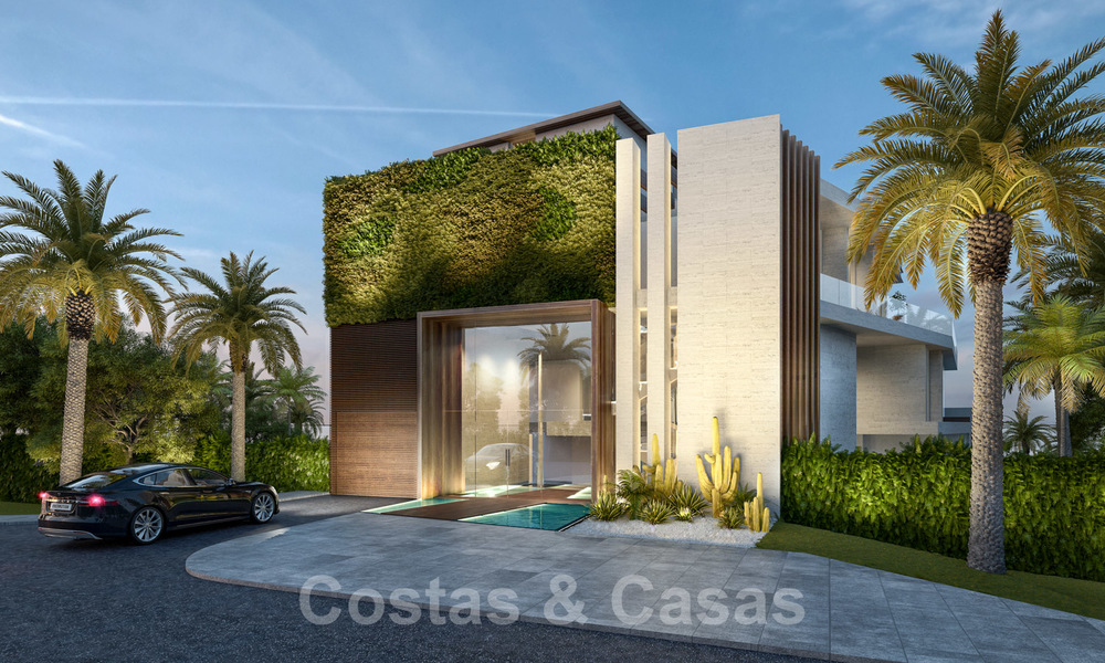 New ultra-deluxe frontline beach apartments for sale, near the centre and marina of Estepona 20953