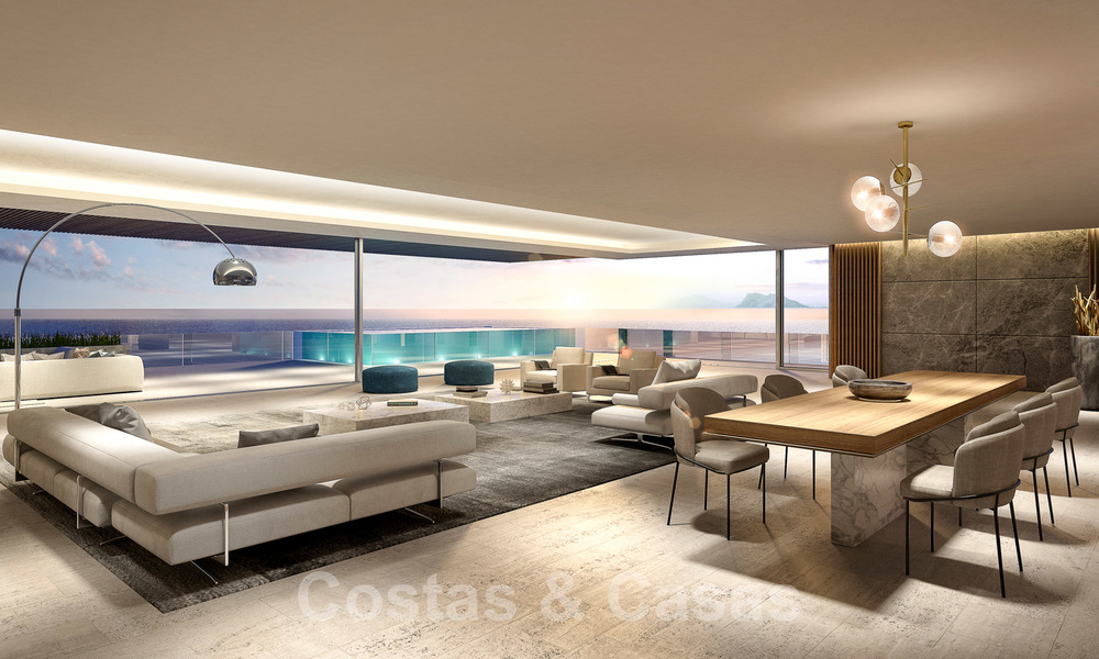 New ultra-deluxe frontline beach apartments for sale, near the centre and marina of Estepona 26575