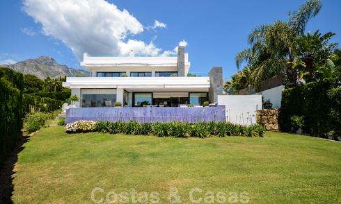 Modern luxury villa with panoramic sea views for sale in the prestigious Golden Mile of Marbella 21006