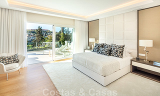 Majestic, completely renovated trendy Spanish villa for sale, frontline golf in Nueva Andalucia, Marbella 21344