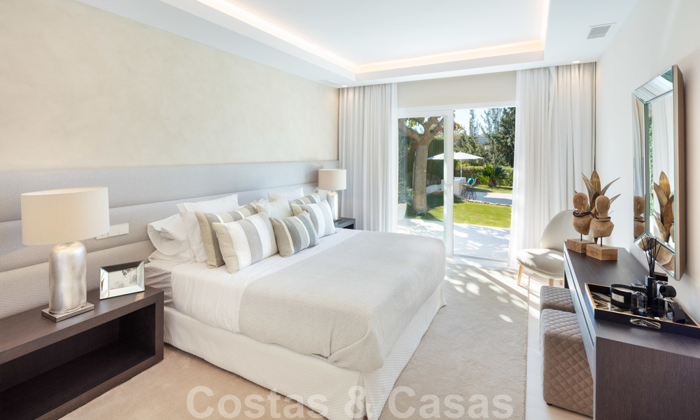 Majestic, completely renovated trendy Spanish villa for sale, frontline golf in Nueva Andalucia, Marbella 21347