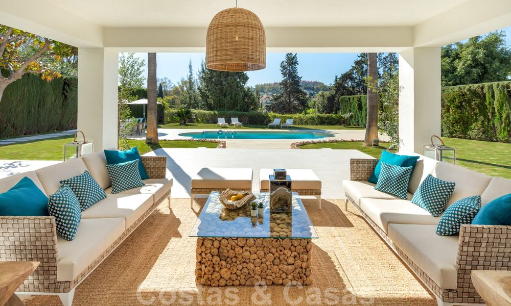 Majestic, completely renovated trendy Spanish villa for sale, frontline golf in Nueva Andalucia, Marbella 21350