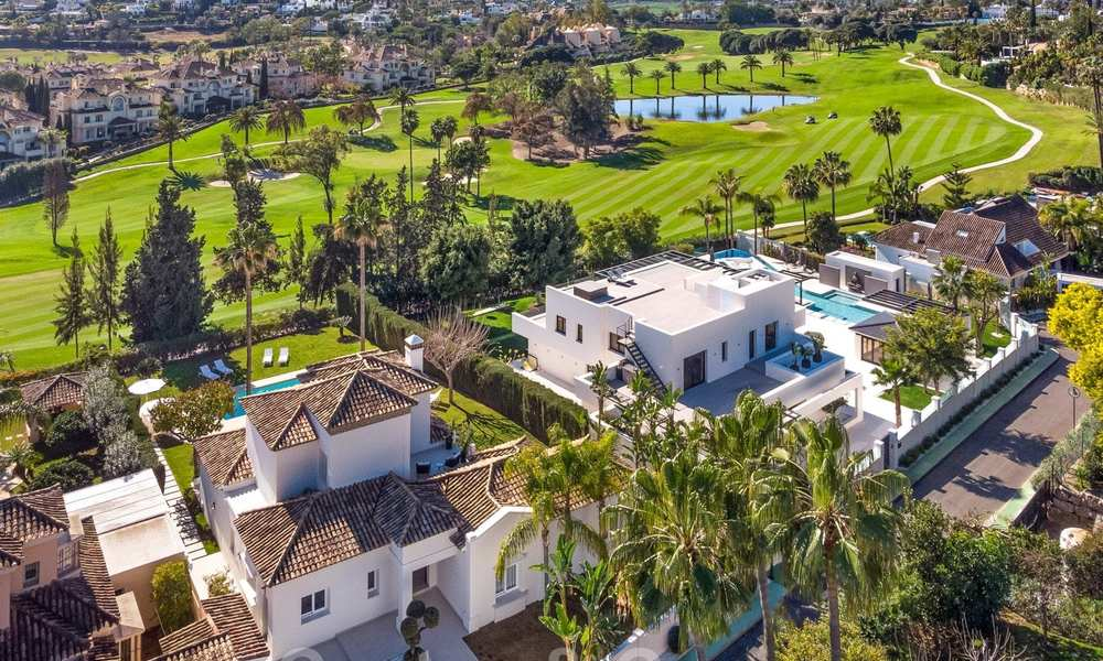 Majestic, completely renovated trendy Spanish villa for sale, frontline golf in Nueva Andalucia, Marbella 21351