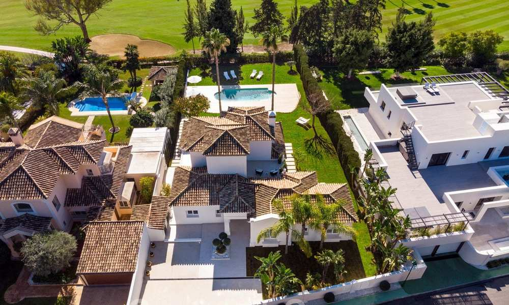 Majestic, completely renovated trendy Spanish villa for sale, frontline golf in Nueva Andalucia, Marbella 21352