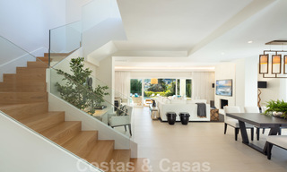 Majestic, completely renovated trendy Spanish villa for sale, frontline golf in Nueva Andalucia, Marbella 21355